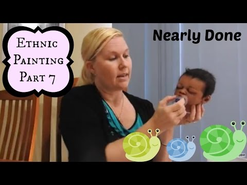 Part 7 ~ Ethnic Reborn Baby Painting ~ Stage B -Hair Rooting - Eyelashes and Gluing