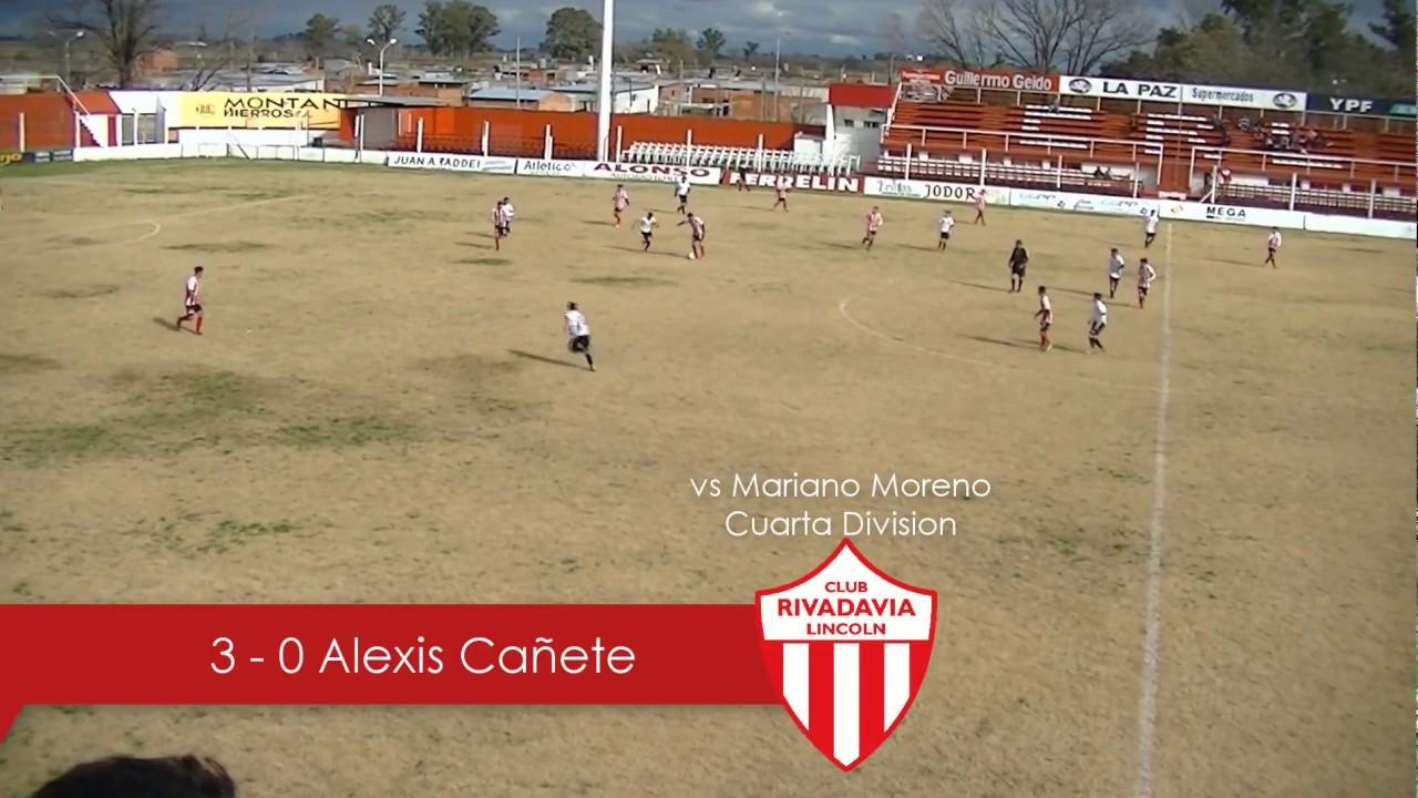3-0 Alexis Cañete a Mariano Moreno (Cuarta División) - YouTube