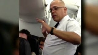Flight attendant loses it on passengers
