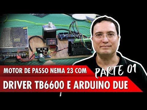 Motor de Passo Nema 23 com Driver TB6600 e Arduino Due