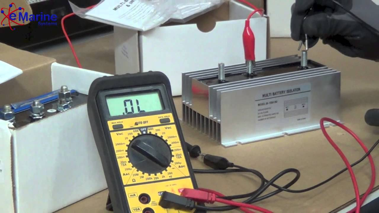 How To Test A Battery Isolator E Marine Systems Youtube Wiring