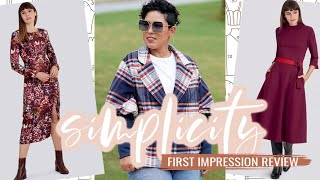 Simplicity Sewing Patterns  |  Fall 2020  |  First Impression
