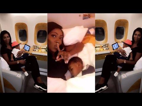 Tiwa Savage and Jamil fly to Dubai on Emirates