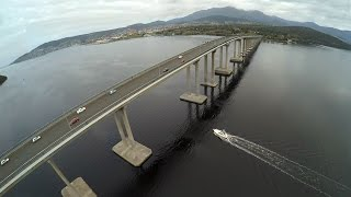 Birds eye view of Hobart Tasmania by Drone!