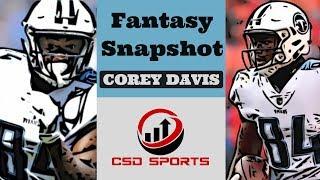 Fantasy Football 2018 - Week 11 Fantasy Snapshot Corey Davis