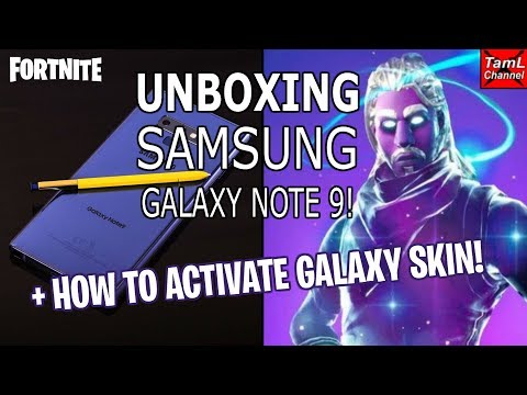 Unboxing Samsung Galaxy Note 9! + How To Activate Galaxy Skin! (Fortnite)