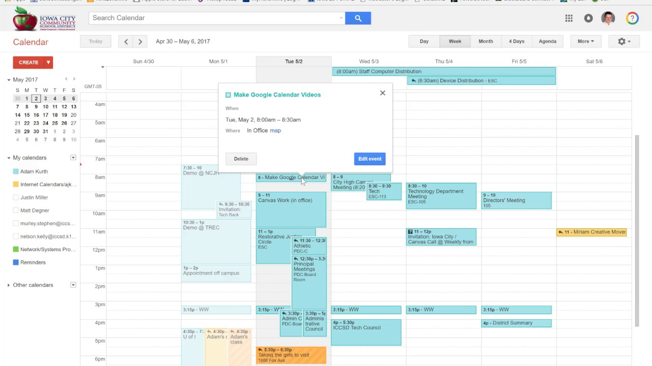 Creating Events and Meeting Invites with Google Calendar