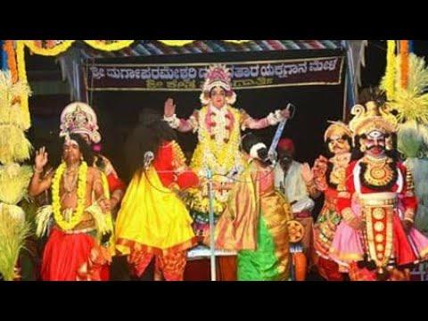 ಕಲ್ಕುಡ ದೈವ ಪ್ರವೇಶ - ಮಹಿಷಾಕ್ಯಾ ವಧೆ - ದೇವಿಗೆ ಮಂಗಳಾರತಿ - Yakshagana Mandarthi Kshetra Mahatme - 31