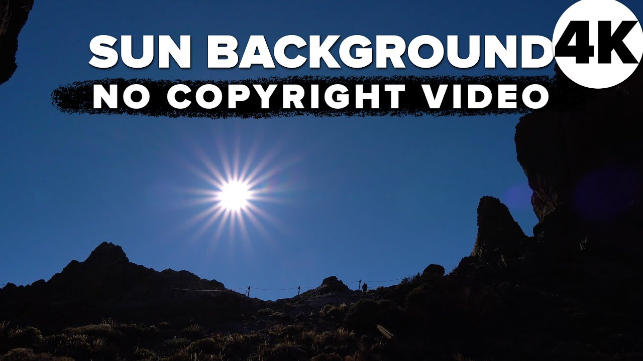 Free 4K SILHOUETTE SUN NATURE BACKGROUND - No Copyright Stock Video background