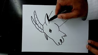 رسم ماعز جبلي Draw a mountain goat