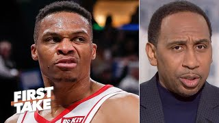 'What do you mean you don't care?' - Stephen A. reacts to Russell Westbrook's comments | First Take