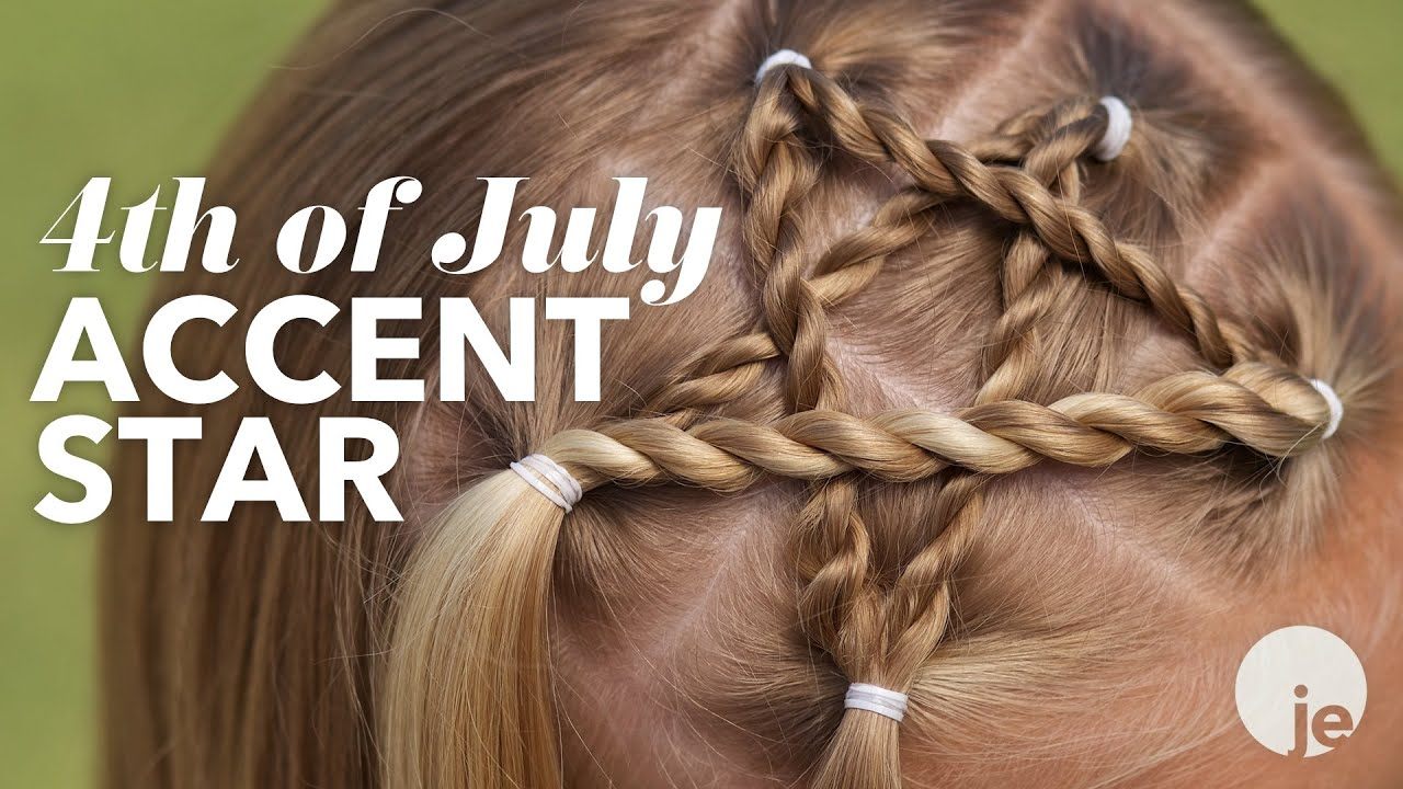 4th of july accent star braid | holiday hairstyles