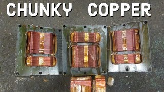CHUNKY COPPER FROM INDUSTRIAL LIGHTS FOUND DUMPSTER DIVING !!!