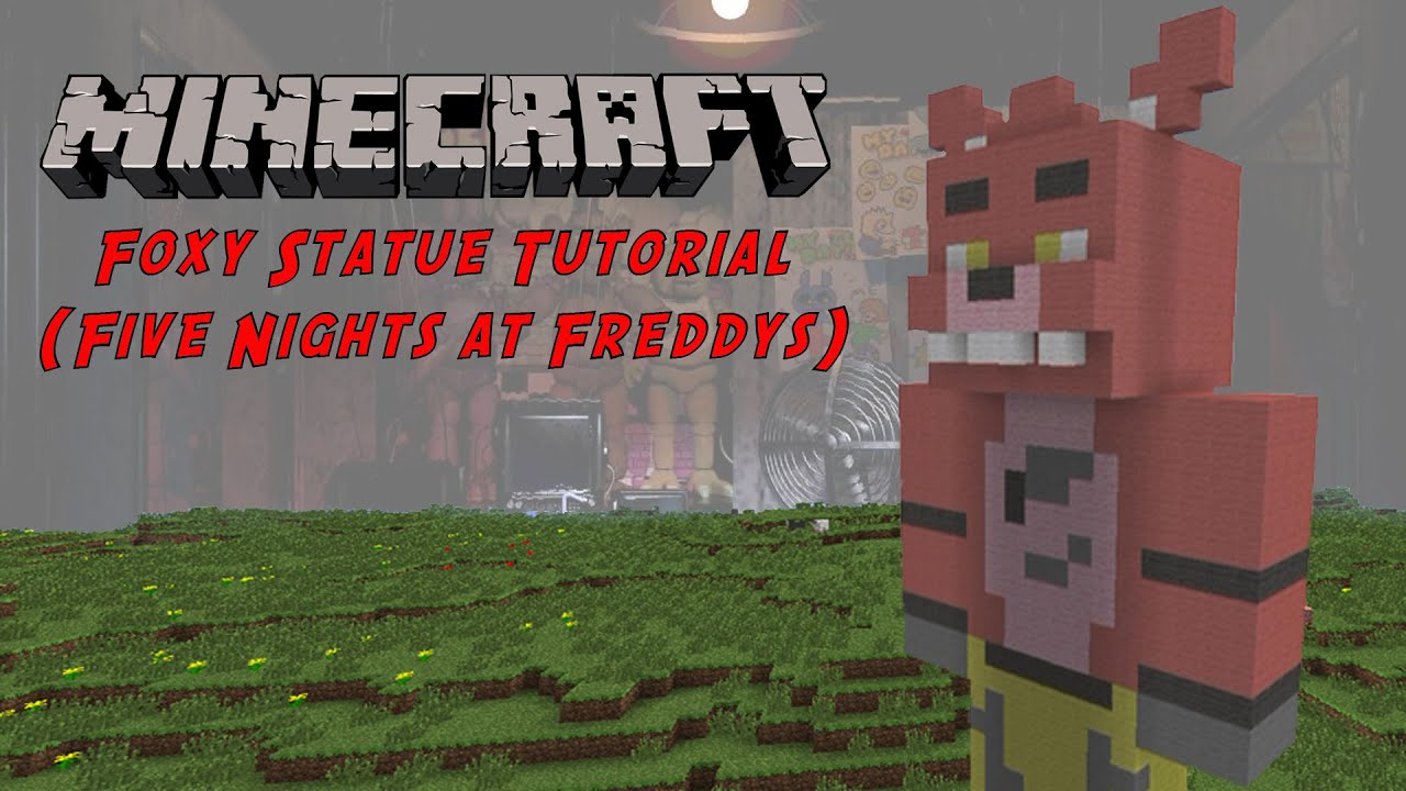 Minecraft Tutorial Foxy Five Nights At Freddys Statue YouTube - Skins para minecraft pe foxy