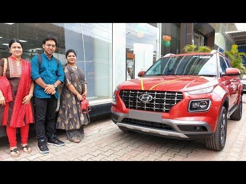 Buying Hyundai Venue Lava Orange|Entering Showroom,Worshipping,Exterior,Interior&Driving Video