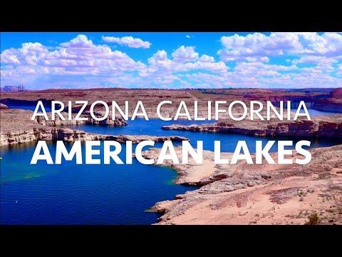 AMERICAN LAKES in ARIZONA & CALIFORNIA 4K || USA Ultra HD