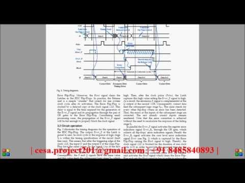 Timing Error Tolerance in Small Core Designs for SoC Applications