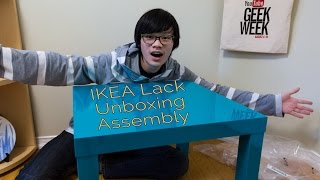 Ikea Lack Unboxing And Assembly Timelapse!