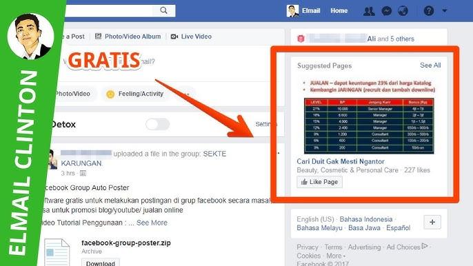 Cara Gratis Promosi Fanspage Atau Halaman Facebook Youtube