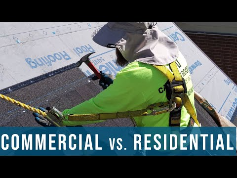 Commercial Vs. Residential Roofing | OSHA Rules, Hazards, Fall Arrest, Safety, Fall Protection