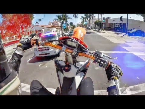 BUSTED WHEELING IN FRONT OF COP! COOL & ANGRY COPS VS BIKERS
