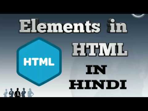 Elements in HTML - Container and Empty