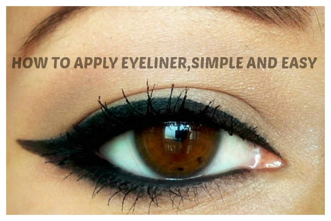 how to apply eyeliner simple and easy guide for beginners indian beauty guru youtube. Black Bedroom Furniture Sets. Home Design Ideas