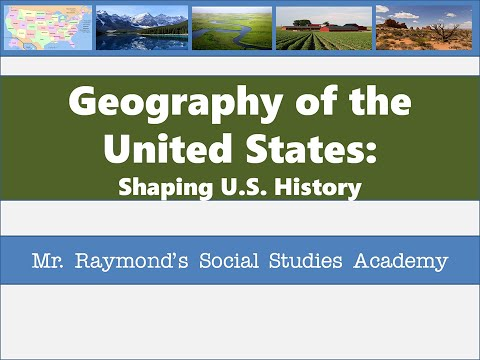 US Geography for US  History Classes