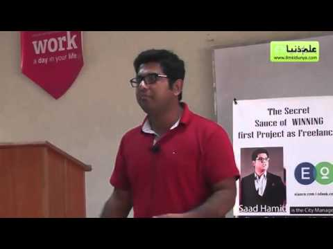 Freelancing workshop by Saad Hamid at Nest Colleges Lahore