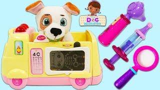 Disney Jr Doc McStuffins Oliver Visits the Pet Vet Toy Hospital for a Checkup!