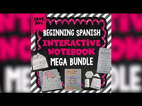 Beginning Spanish Interactive Notebook Mega Bundle | Island Teacher