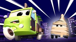 Авто Патруль -  Загадочная мумия пицца - Автомобильный Город  🚓 🚒 детский мультфильм