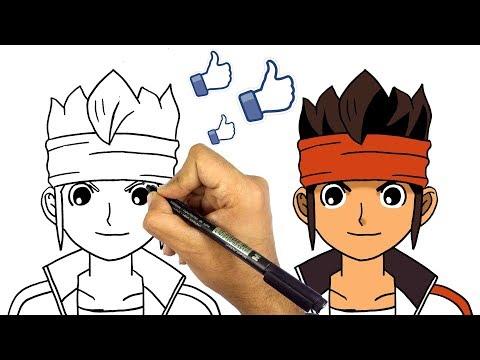رسم عامر من كرتون ابطال الكرة تعليم الرسم للاطفال كيف ترسم عامر Youtube