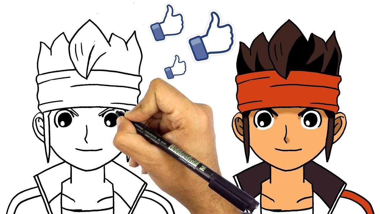 رسم عامر من كرتون ابطال الكرة تعليم الرسم كيف ترسم عامر Youtube