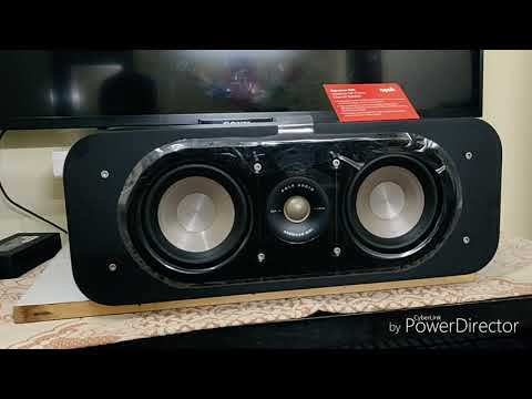 Polk Audio Signature S30 Center channel unboxing, setup and review