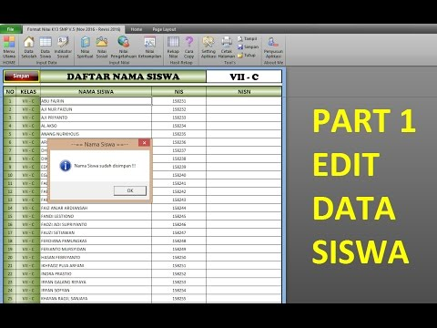 Part 1 Raport K13 Smp Edit Data Siswa Youtube