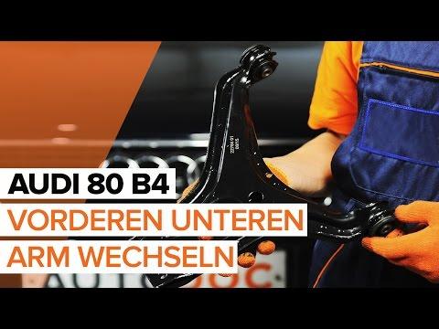 Wie AUDI 80 B4 vorderen unteren Arm wechseln TUTORIAL | AUTODOC