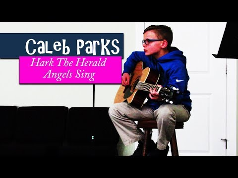 Hark The Herald Angels Sing - 10 year old Caleb Parks on Guitar
