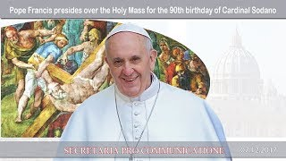 2017.12.07 Pope Francis presides over the Mass for Cal. Sodano's birthday