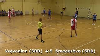 Handball. Vojvodina (SRB) - Smederevo (SRB). U16 boys. Semifinal. TROPHY-2018. Smederevo.