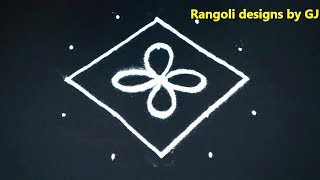 lotus kolam with dots 5 - lotus muggulu with dots- rangoli lotus designs - color kolam - rangoli