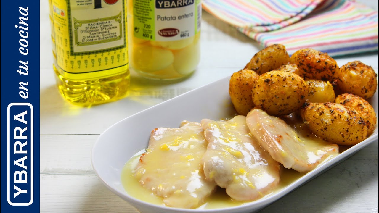 Pechugas de pollo al lim n con patatas ybarra asadas youtube - Pechugas de pollo al horno con patatas ...