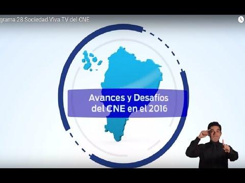 Programa 28 Sociedad Viva TV del CNE