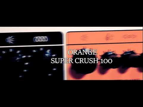 Orange super crush 100  [ sound check ]   Power chords & Heavy sounds! Tube amp killer?
