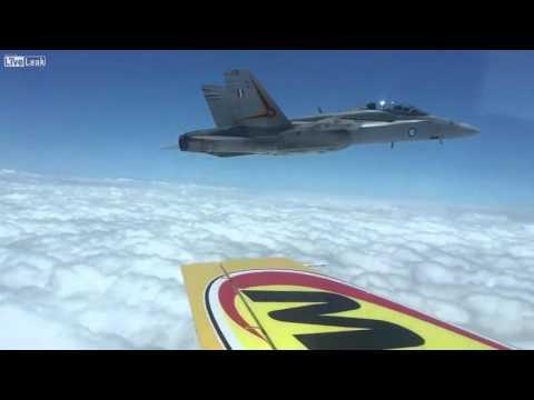 F18s vs Propeller Plane