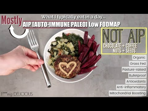 Low FODMAP & mostly AIP [auto-immune paleo] WHAT I EAT IN A DAY | Bulletproof & anti-inflammatory