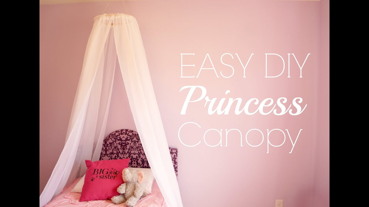 Princess Bed Blueprints Easy Diy Princess Canopy Youtube