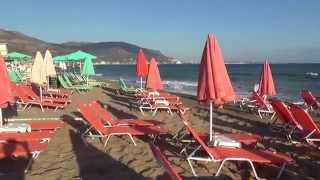 Крит из Самары. Пляж на курорте Малия(Видео эксперта по туризму Александра Ратнера с Крита. Июнь 2014 года., 2014-07-18T18:22:35.000Z)
