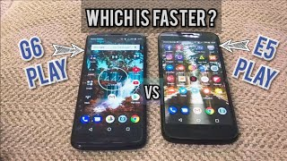 Moto G6 Play vs Moto E5 Play Speedtest!