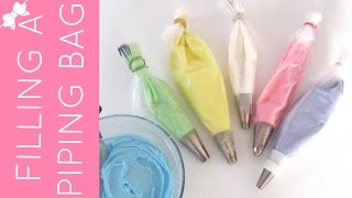 How To Fill A Piping Bag With Frosting or Filling | Cupcakes 101 Video: Quick, Easy Tips & Tricks